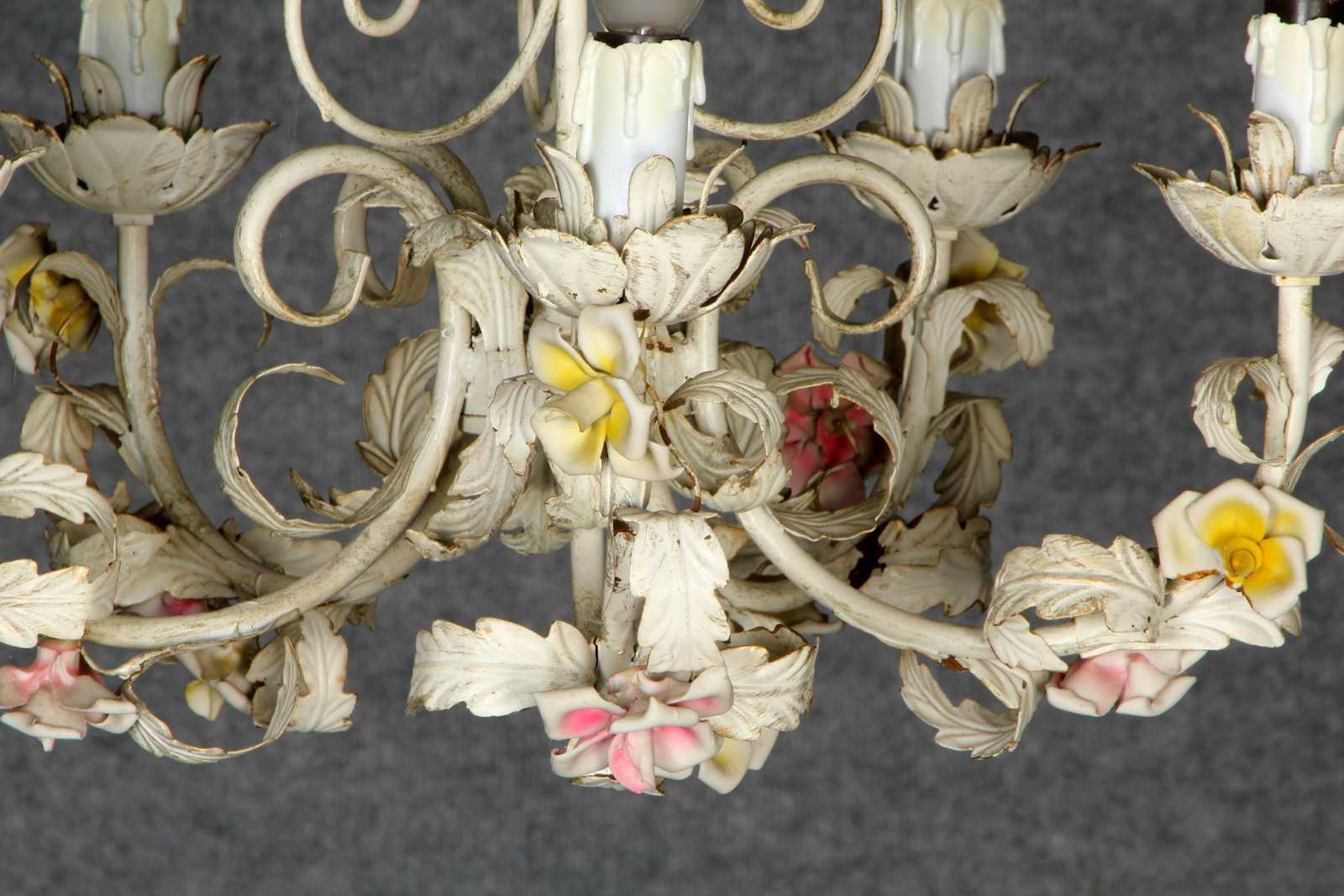 Kronleuchter Floral ~ Antike wandlampe kronleuchter korblüster lüster
