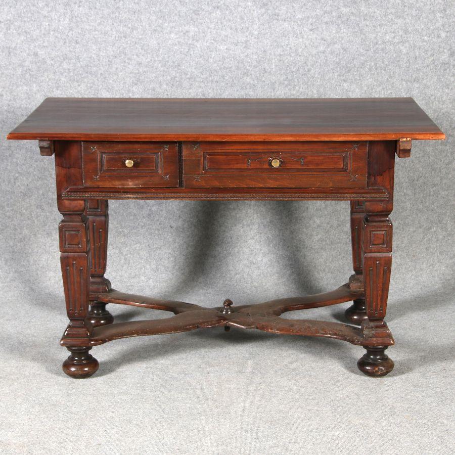 Antiker tisch tische barocktisch biedermeiertisch for Tisch schreibtisch