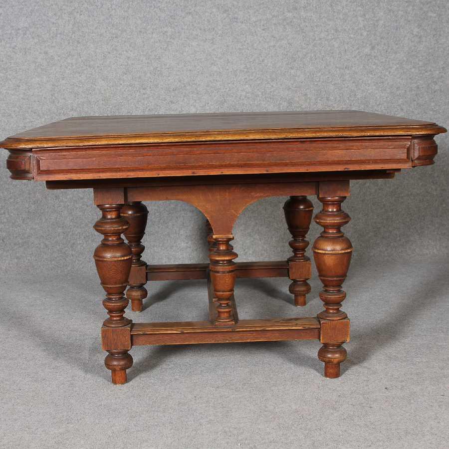 Antiker tisch tische barocktisch biedermeiertisch for Wohnzimmertisch und esstisch in einem