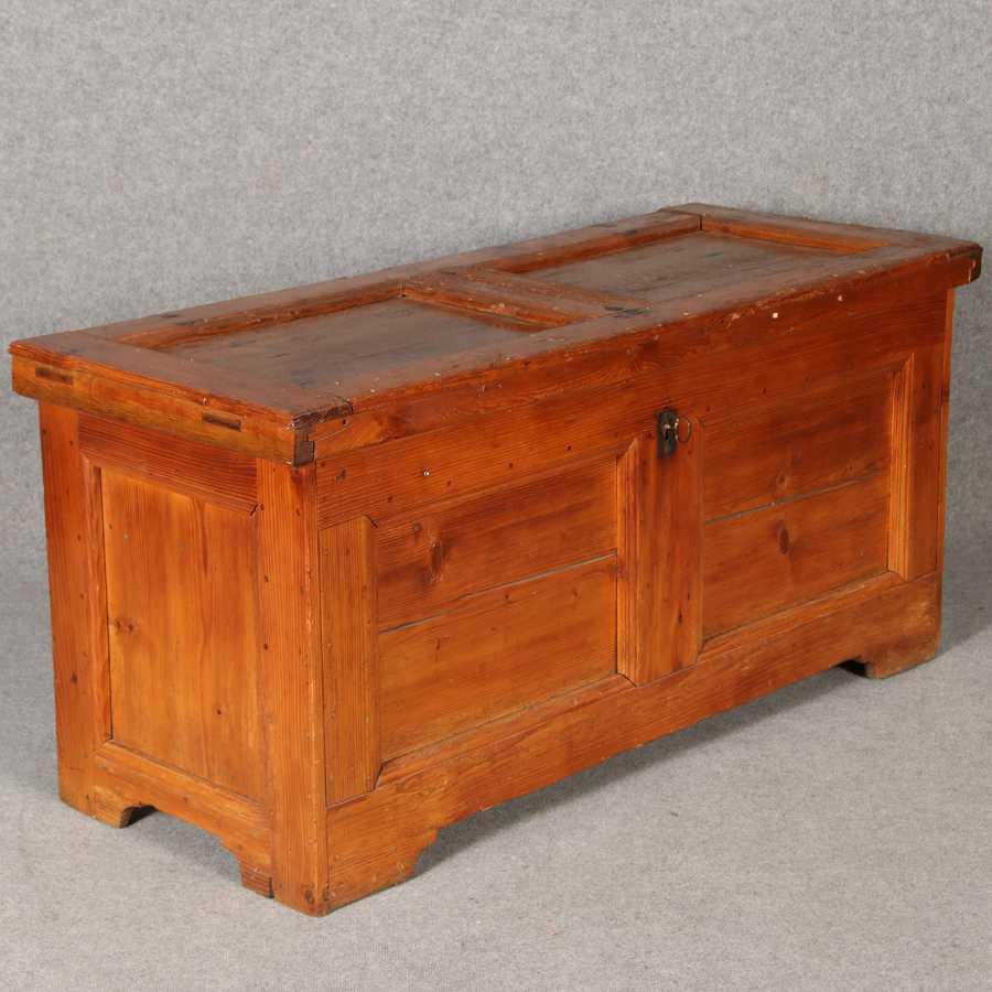 barocktruhe weichholz 18 jh ebay. Black Bedroom Furniture Sets. Home Design Ideas