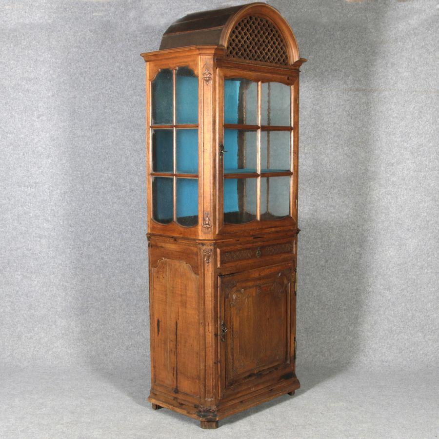 schmale barock aufsatz vitrine aachen l ttich 18 jh. Black Bedroom Furniture Sets. Home Design Ideas